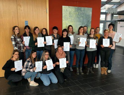 Neue Facherzieherinnen für Krippenpädagogik